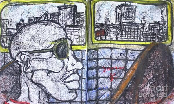 Pastel - Chicago Train Ride by Odalo Wasikhongo