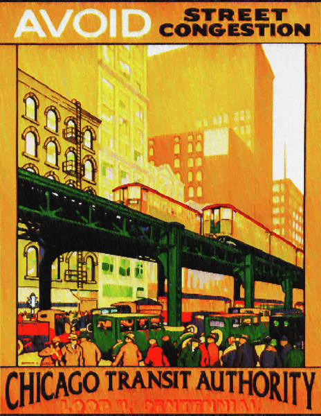 Wall Art - Photograph - Chicago Transit Authority by Bill Cannon