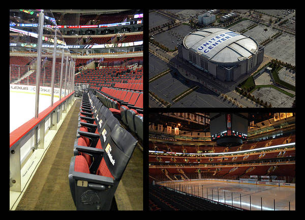 Wall Art - Photograph - Chicago United Center Tri Panel Collage by Thomas Woolworth