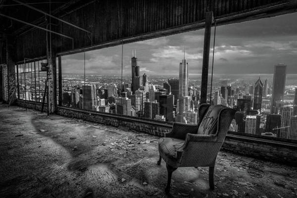 Crumble Photograph - Chicago View by Mike Burgquist