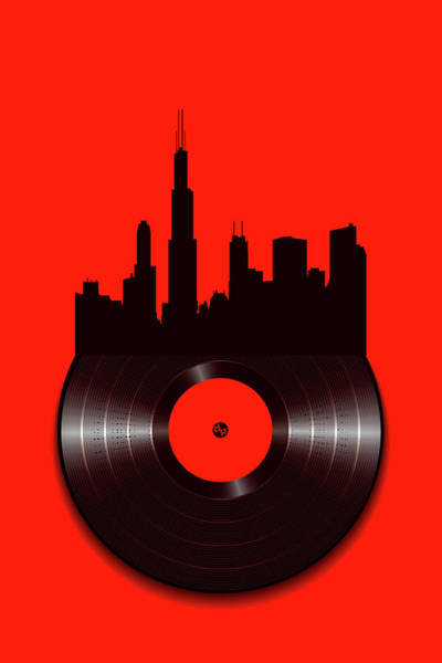 Painting - Chicago Vinyl by Tony Rubino