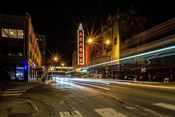 Photograph - Chicago's Aragon Ballroom Time Exposure by Sven Brogren