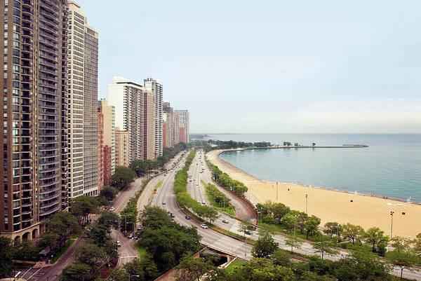 Lake Photograph - Chicagos Gold Coast And Lake Shore by Chuck Eckert