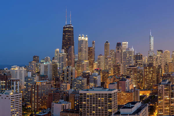 Photograph - Chicago's Streeterville At Dusk by Adam Romanowicz