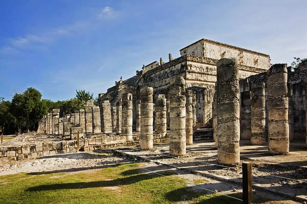 Yucatan Wall Art - Photograph - Chichen Itza Showing The Colonnades by David Davis