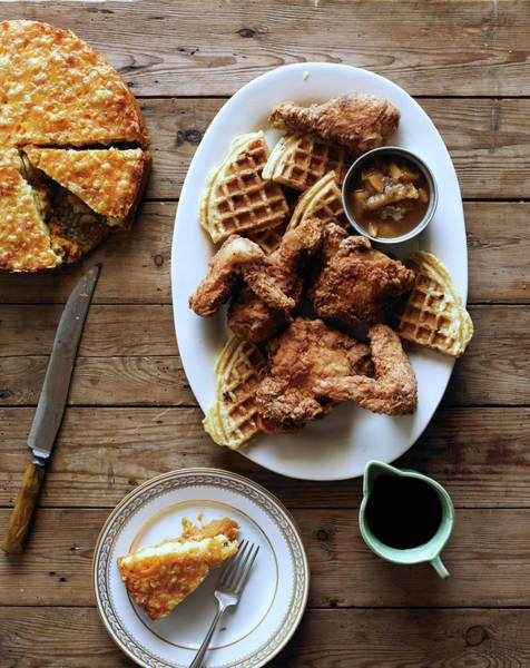 Southern Usa Photograph - Chicken & Waffles by Iain Bagwell