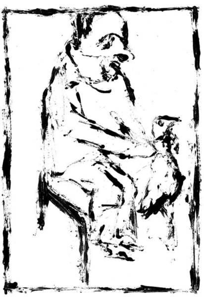 Digital Art - Chicken Digitally Whitened Paper by Artist Dot