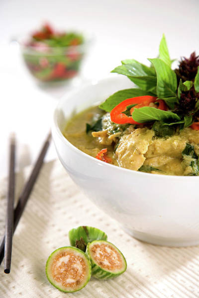 Raw Meat Photograph - Chicken Green Curry by Shutterworx