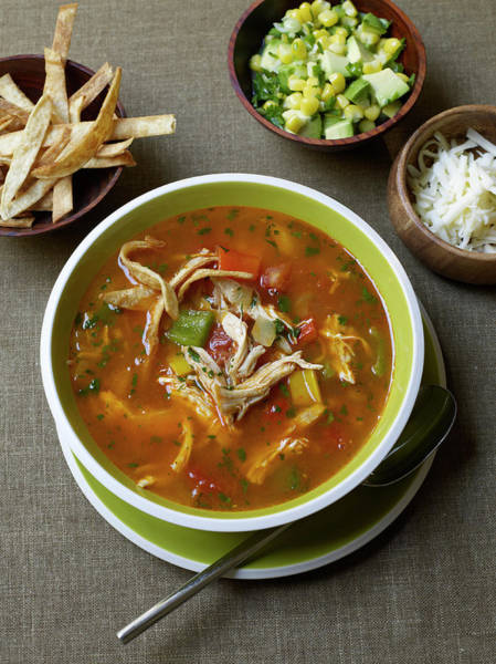 Healthy Lifestyle Photograph - Chicken Tortilla Soup by James Baigrie