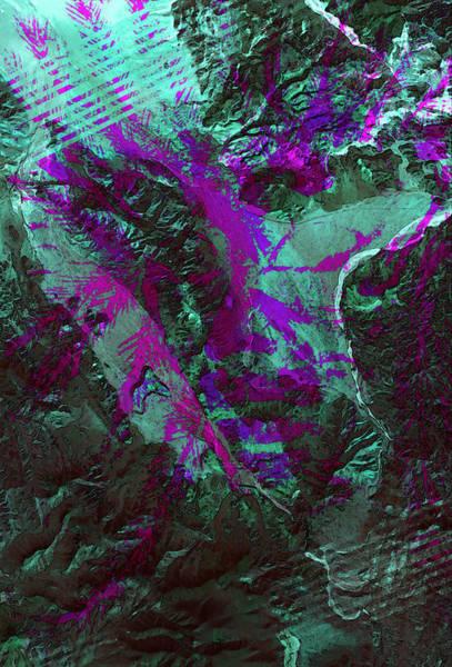 Satellite Imagery Digital Art - Chief Baja V0 by Tucker Fullmer