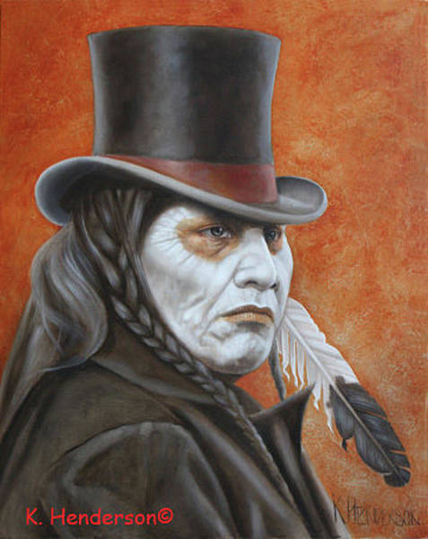 Wall Art - Painting - Chief Charlot by K Henderson