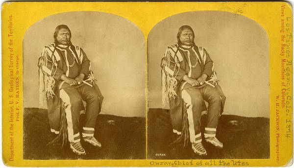 Indigenous People Photograph - Chief Ouray, Native American Chief by The New York Historical Society