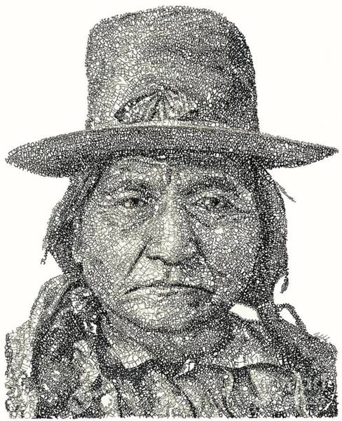 Native Drawing - Chief Sitting Bull by Michael Volpicelli