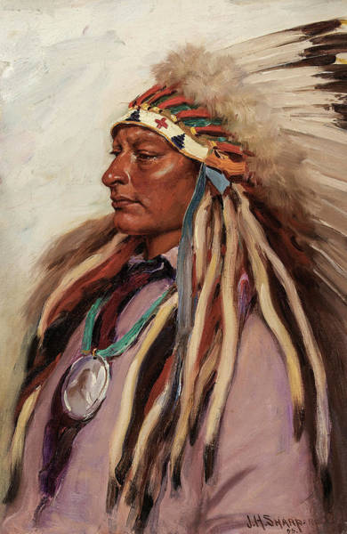 Wall Art - Painting - Chief Spotted Elk, 1905 by Joseph Henry Sharp