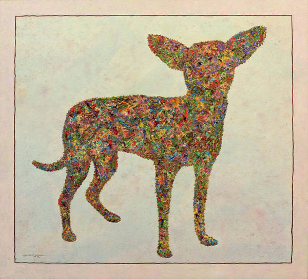 Palette Painting - Chihuahua-shape by James W Johnson