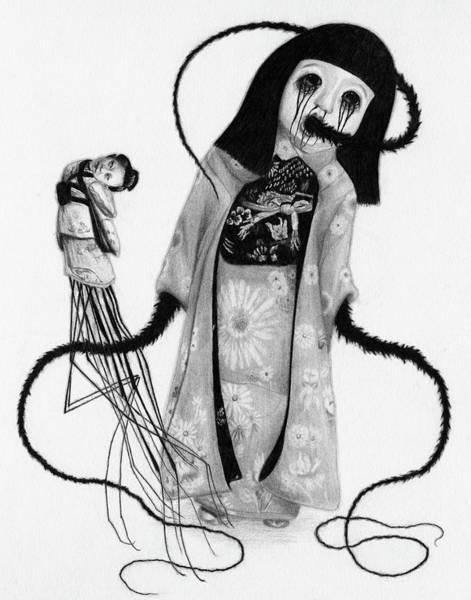 Drawing - Chikako The Doll Girl Of Kanagawa - Artwork by Ryan Nieves
