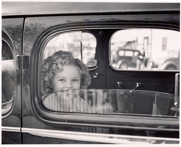 Photograph - Child Actress Shirley Temple Arriving by Alfred Eisenstaedt