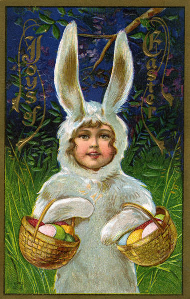 Wall Art - Digital Art - Child In A Bunny Suit by Graphicaartis