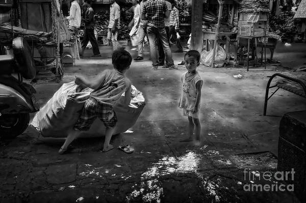 Wall Art - Photograph - Child Labour In The Streets by Stefano Senise