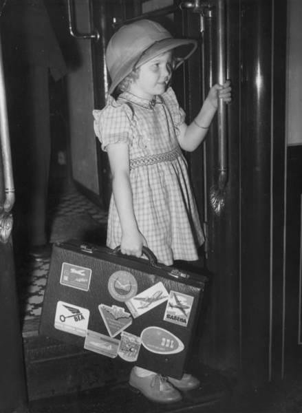 Passenger Car Photograph - Child Returns by Reg Birkett