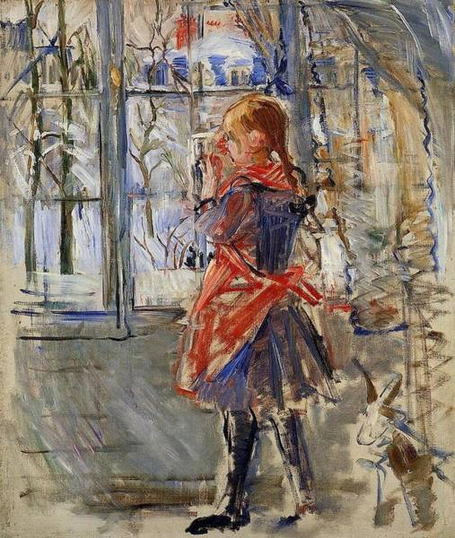 Wall Art - Painting - Child With A Red Apron - 1886 - Pc by Berthe Morisot