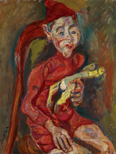 Wall Art - Painting - Child With A Toy, 1919 by Chaim Soutine