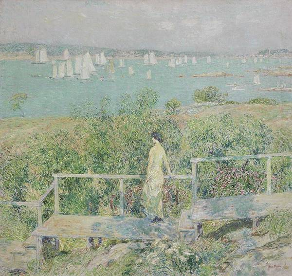Wall Art - Painting - Childe Hassam  1859-1935 The Yachts, Gloucester Harbor by Celestial Images