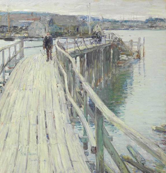 Wall Art - Painting - Childe Hassam - Dock Scene, Gloucester  1894  by Celestial Images