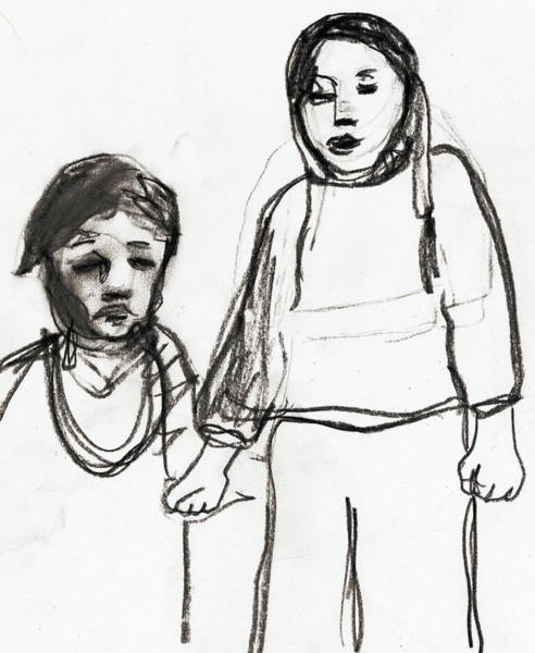 Drawing - Children by Artist Dot