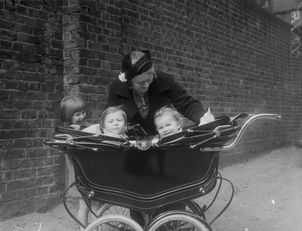 2 Photograph - Children In Pram by London Express