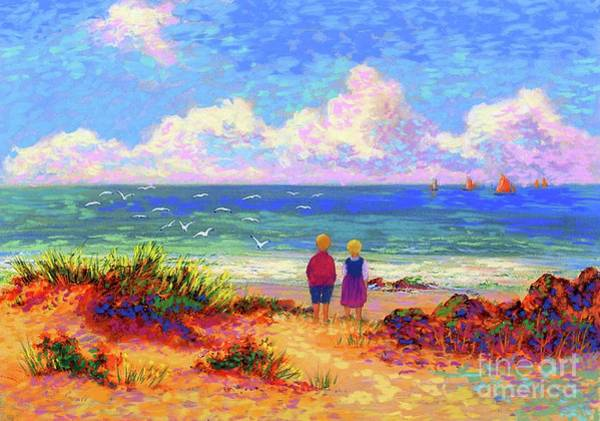 Florida Beach Painting - Children Of The Sea by Jane Small