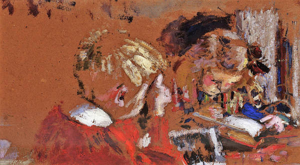 Research Painting - Children Reading - Digital Remastered Edition by Edouard Vuillard