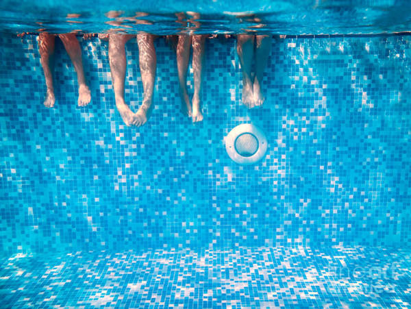 Wall Art - Photograph - Childrens And Adults Legs Underwater In by Kateryna Mostova