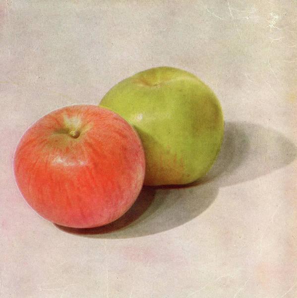Vertical Digital Art - Childrens Still Life - Apples by Graphicaartis