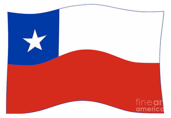 Flag Of Chile Wall Art - Digital Art - Chile Waving Flag by Bigalbaloo Stock