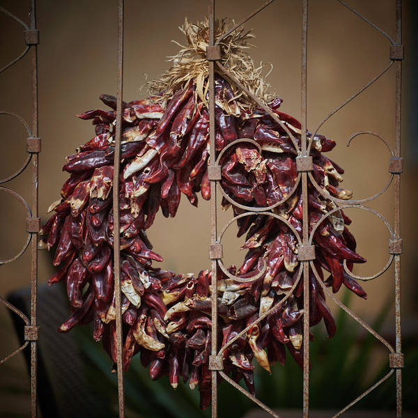 Wall Art - Photograph - Chili Wreath by Paul Freidlund