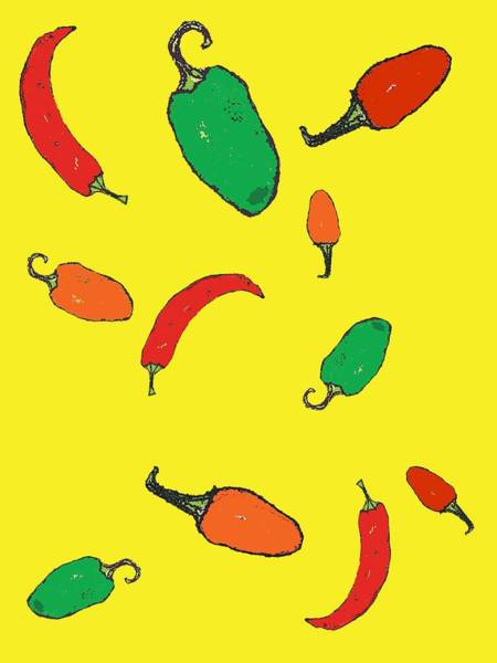 Engels Painting - Chillies by Sarah Thompson-engels