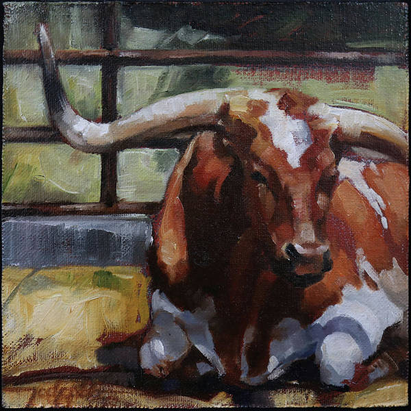 Longhorn Painting - Chillin by Jody Robb