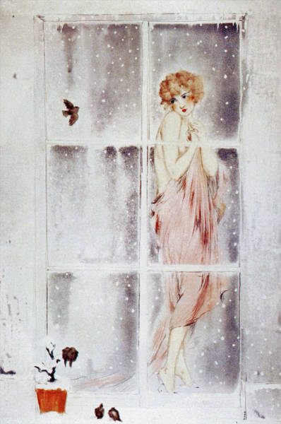 Wall Art - Painting - Chills - Digital Remastered Edition by Louis Icart