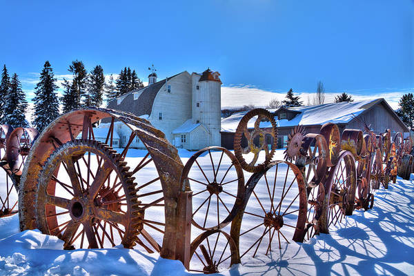 Wall Art - Photograph - Chilly Day At The Barn by David Patterson