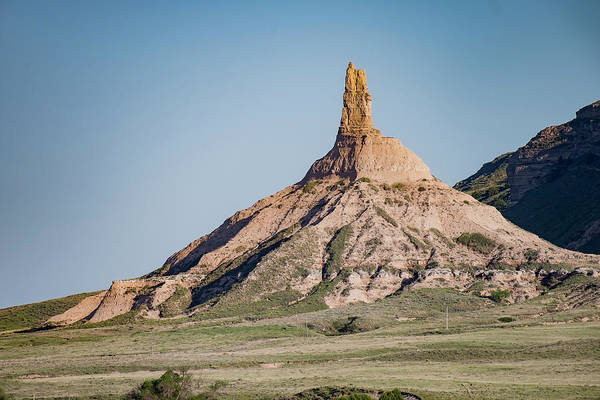 Photograph - Chimney Rock In Nebraska by Art Whitton