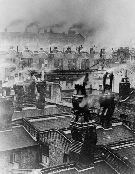 Pollution Photograph - Chimney Smoke by Fred Morley