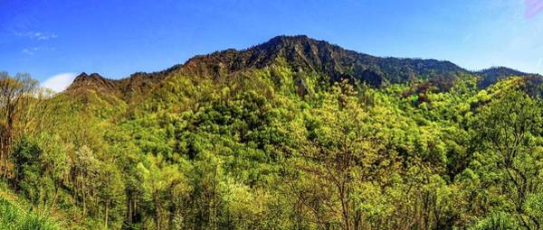 Photograph - Chimney Smokey Mountains  Panorama1 by Michael Thomas