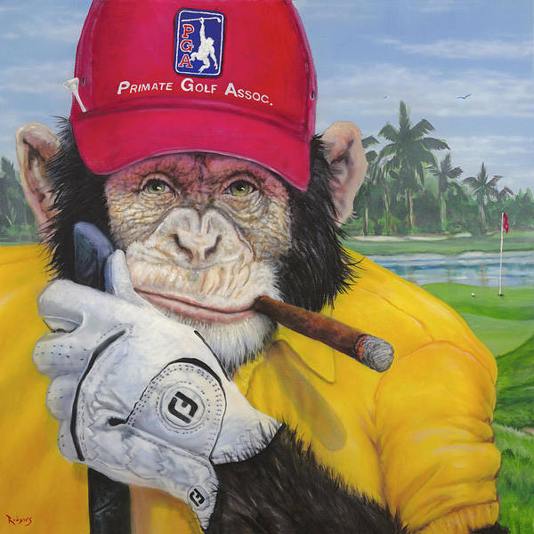 Wall Art - Painting - Chimp Shot - Duffer Mulligan by Lance Rodgers