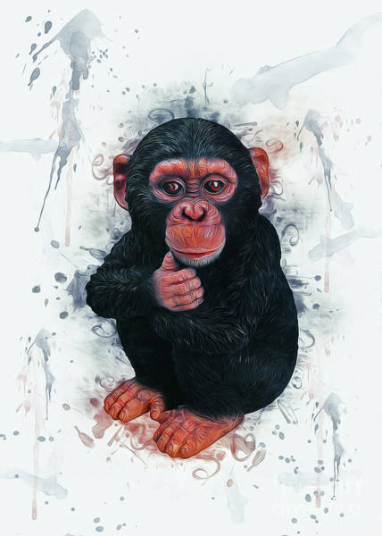 Digital Art - Chimpanzee Art by Ian Mitchell