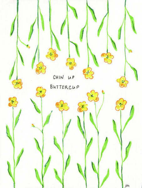 Wall Art - Drawing - Chin Up Buttercup by Molly Susan Strong