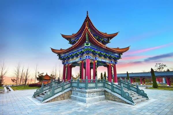 Chinese Pavilion Photograph - China Dali Pavilion by Seng Chye Teo