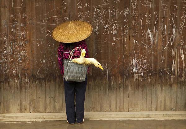 Chinese Language Photograph - China, Guangxi Province, Woman With by Art Wolfe