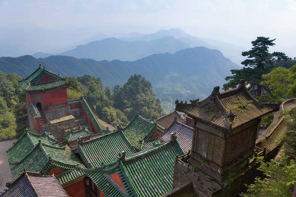 Wall Art - Photograph - China, Hubei Province, Mt. Wudang by Keren Su