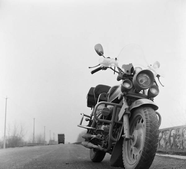 Wall Art - Photograph - China, Nanjing, Motorbike Parked On by Win-initiative